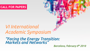International academic symposium 'Facing the Energy Transition: Markets and Networks'