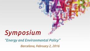 International academic symposium 'Energy and Environmental Policy'